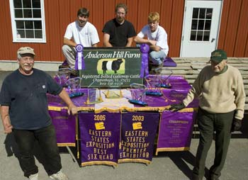 Dick Anderson and the Anderson Hill Farms Staff Display Several Awards